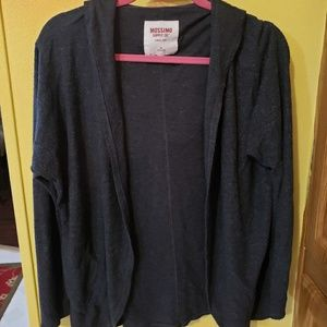 Dark Grey Mossimo Hooded Open Cardigan